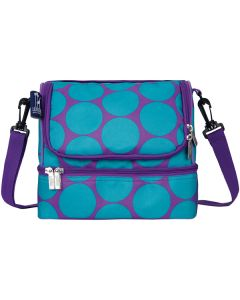 Blue Dots dual lunch bags