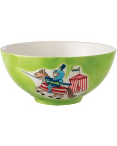 Children's Hand Painted Ceramic Bowl - Knight and Dragon
