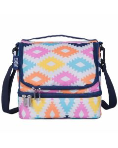 Aztec Dual Compartment Lunch Bag