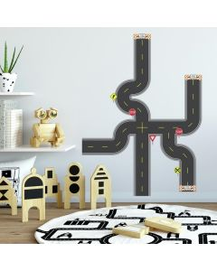 Boys Build A Road Wall Decal