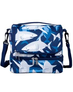 Boy's Dual Compartment Shark Lunch Box