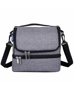 Grey Dual Compartement Lunch Bags