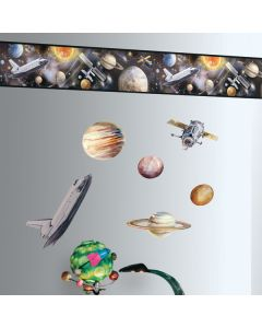 Space Travel Wall Sticker Borders