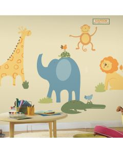 Zoo Animals Giant Wall Stickers