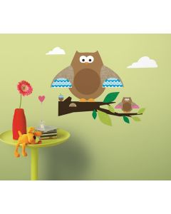 Owl Branch Wall Stickers by RoomMates